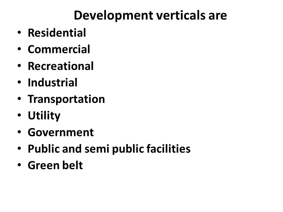 Development verticals are