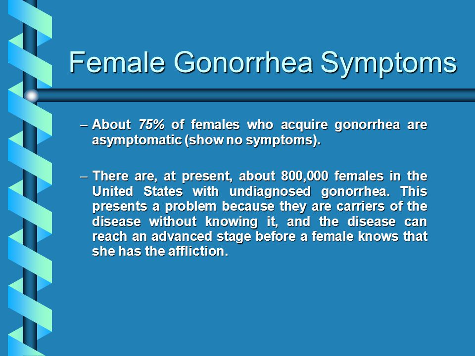 Female Gonorrhea Symptoms