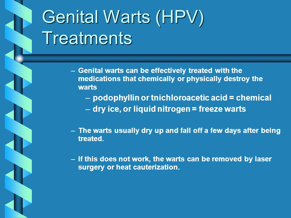 Genital Warts (HPV) Treatments