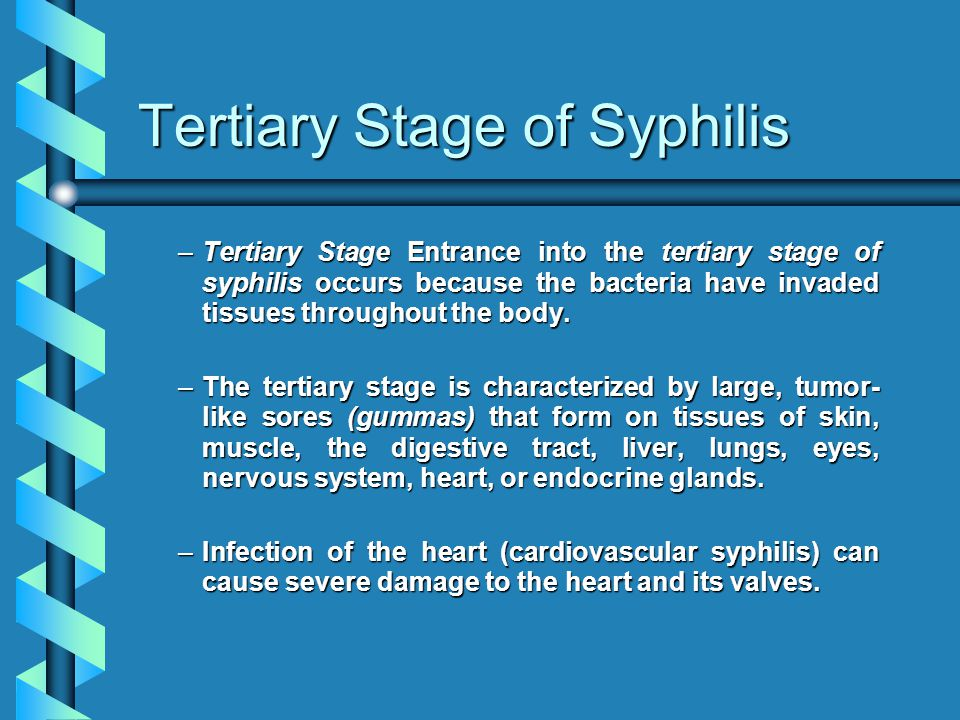 Tertiary Stage of Syphilis