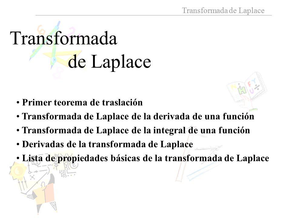 Transformada de Laplace Primer teorema de traslación