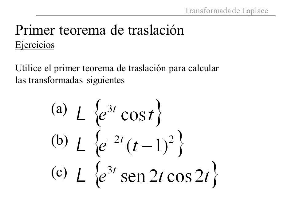 Primer teorema de traslación