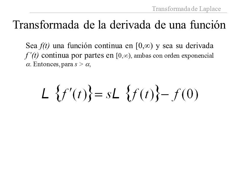 Transformada de la derivada de una función