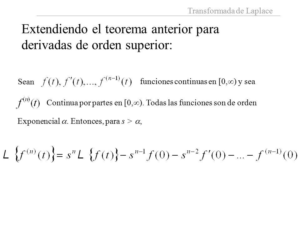 Extendiendo el teorema anterior para derivadas de orden superior: