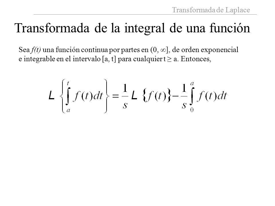 Transformada de la integral de una función
