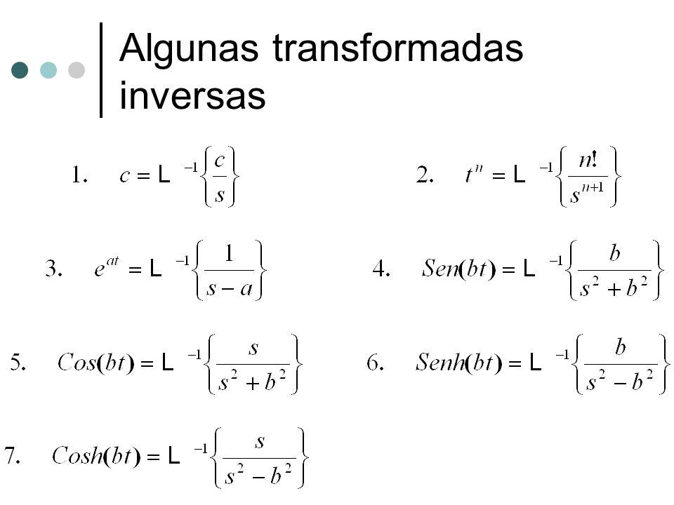Algunas transformadas inversas