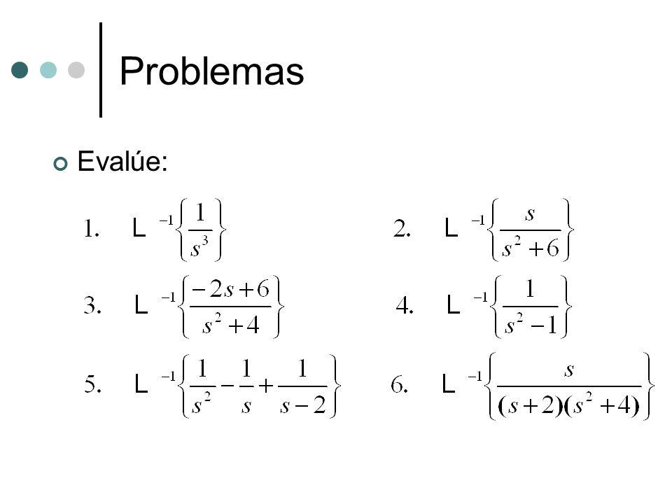 Problemas Evalúe: