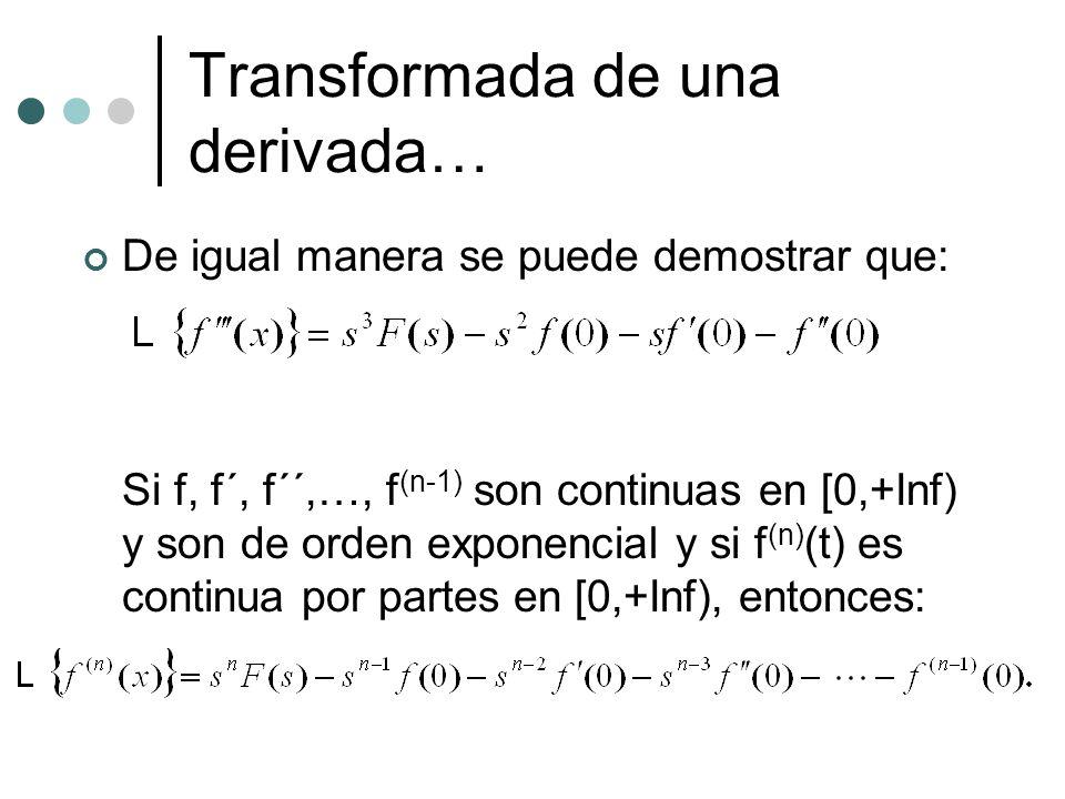 Transformada de una derivada…