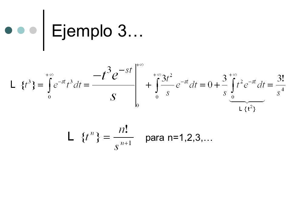 Ejemplo 3… para n=1,2,3,…