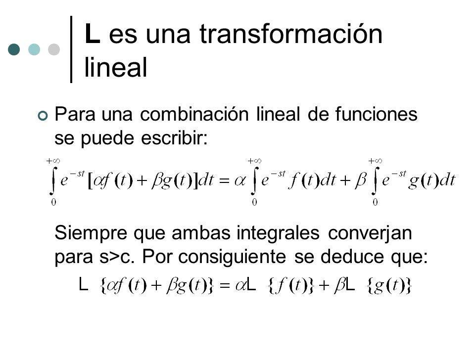 L es una transformación lineal