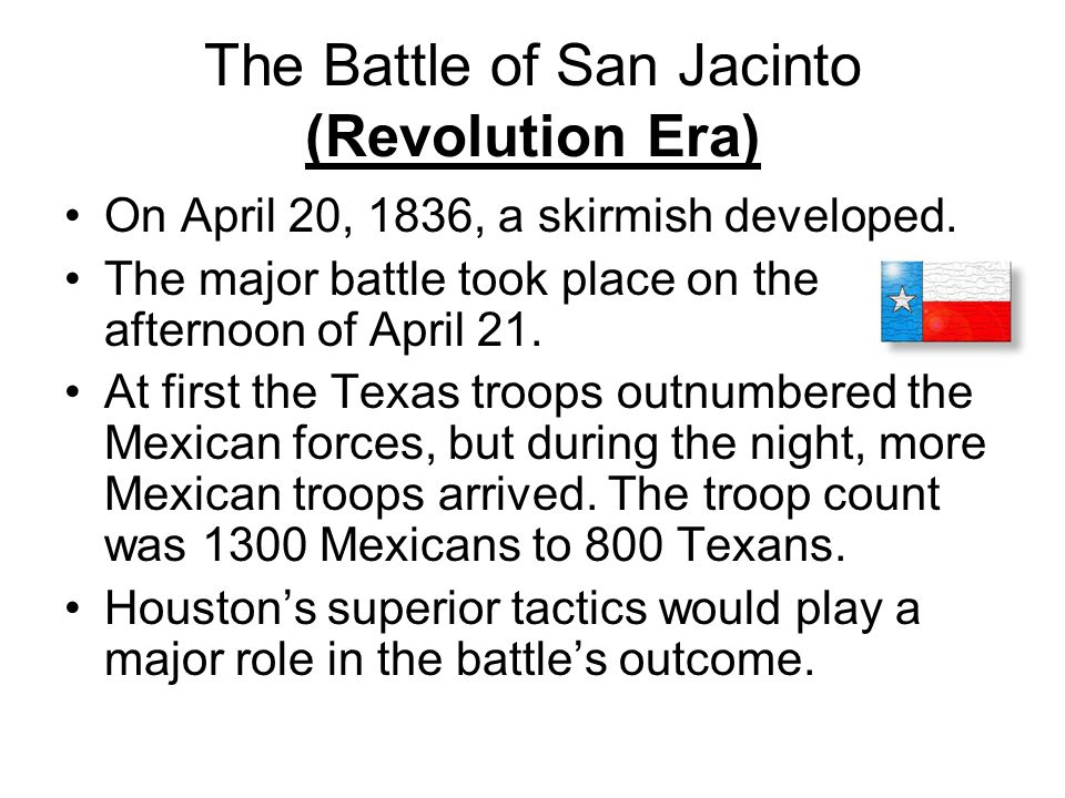 The Battle of San Jacinto (Revolution Era)