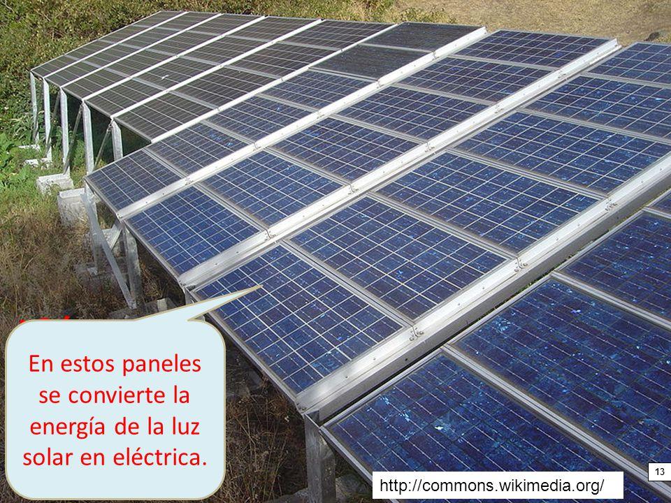 En estos paneles se convierte la energía de la luz solar en eléctrica.