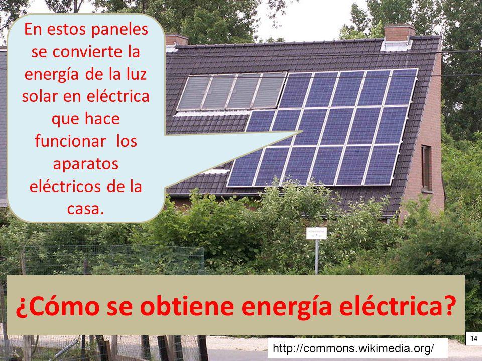 ¿Cómo se obtiene energía eléctrica