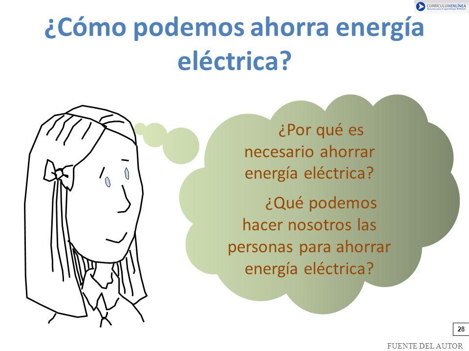 ¿Cómo podemos ahorra energía eléctrica