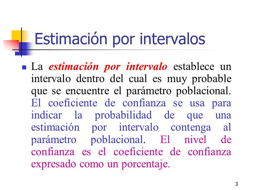 Estimación por intervalos