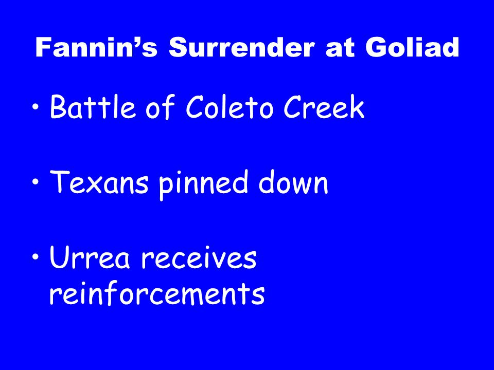 Fannin's Surrender at Goliad
