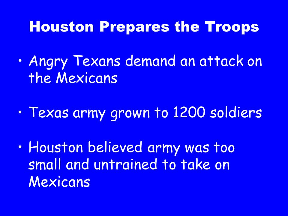 Houston Prepares the Troops
