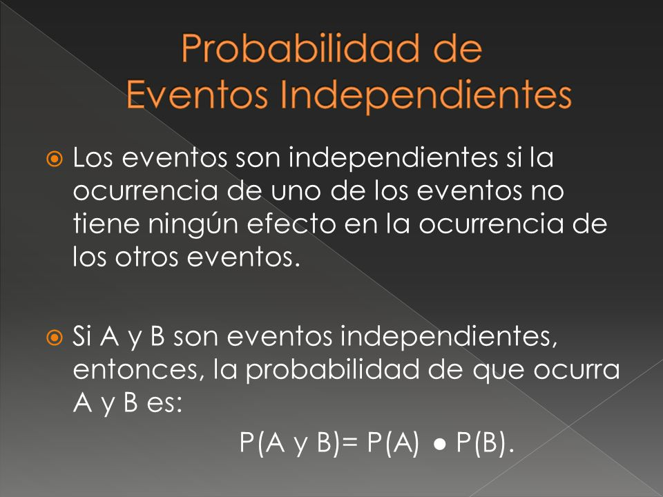 Probabilidad de Eventos Independientes