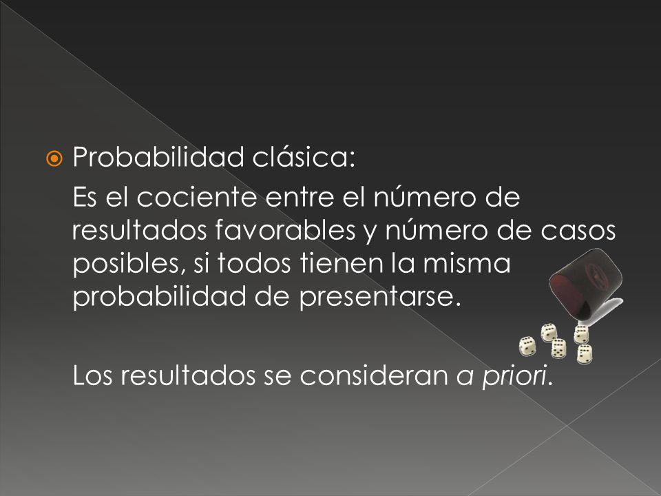 Probabilidad clásica:
