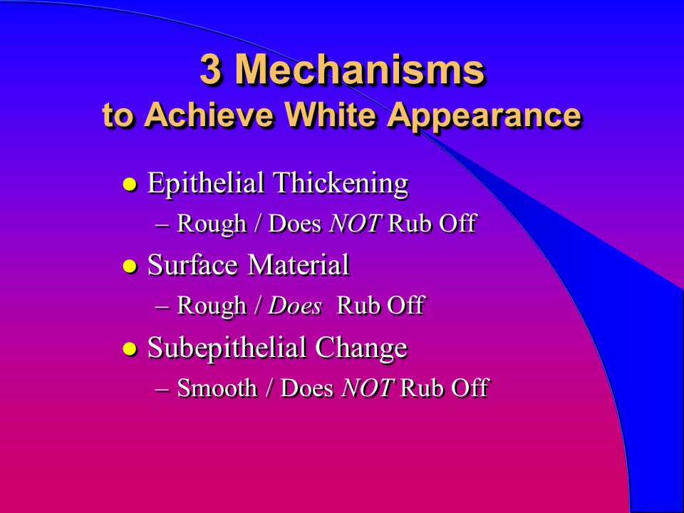 3 Mechanisms to Achieve White Appearance
