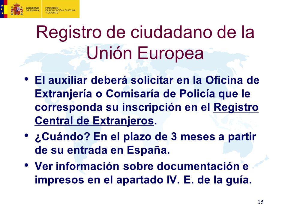 Registro de ciudadano de la Unión Europea