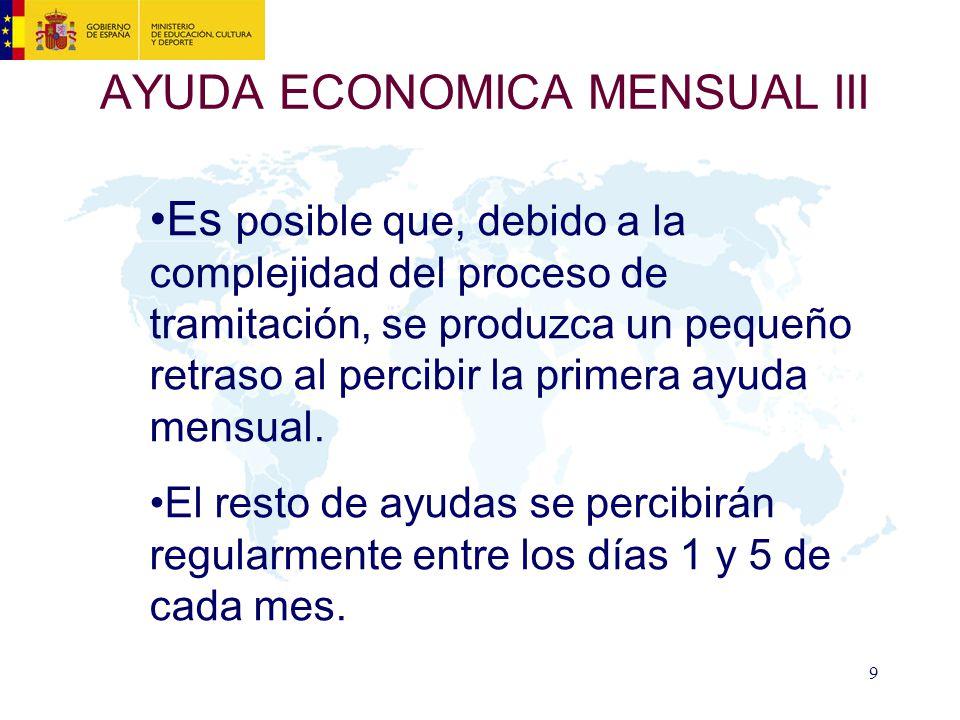 AYUDA ECONOMICA MENSUAL III