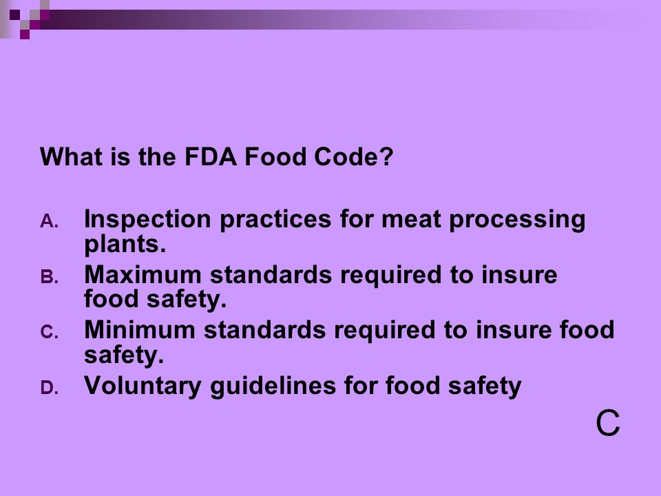fda food code types Washington state retail food code (2009 fda food code 1-10310) and a mixture of two or more types of meat that have been reduced in size and.