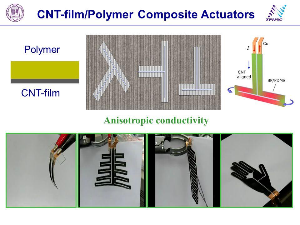 CNT-film/Polymer Composite Actuators Anisotropic conductivity
