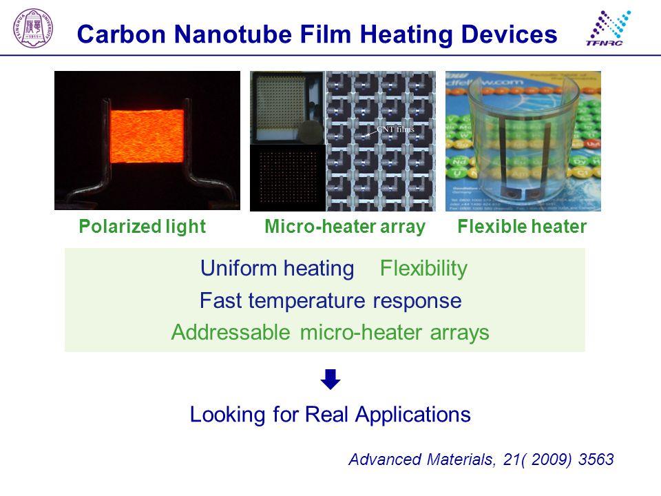 Carbon Nanotube Film Heating Devices