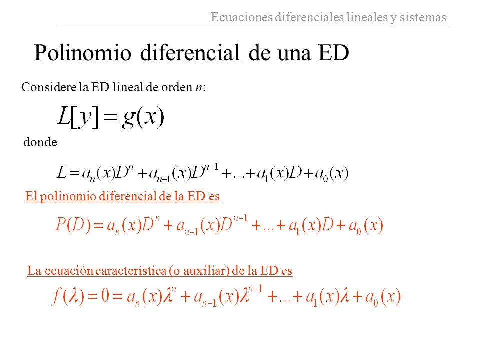 Polinomio diferencial de una ED