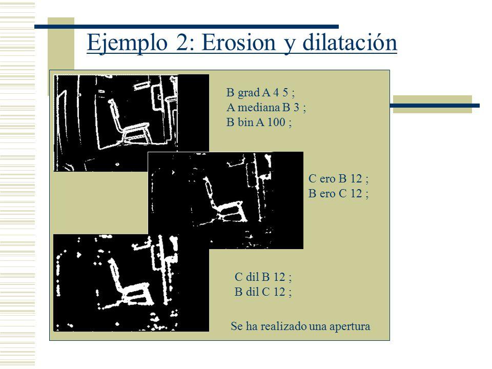 Ejemplo 2: Erosion y dilatación