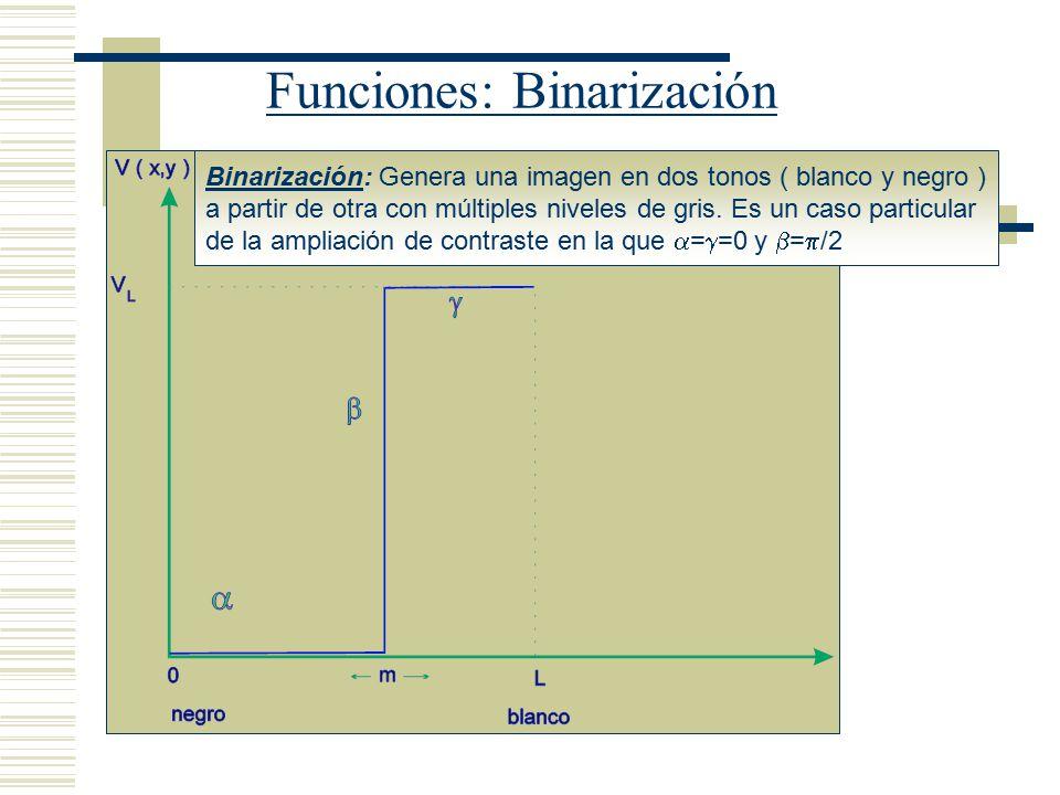 Funciones: Binarización