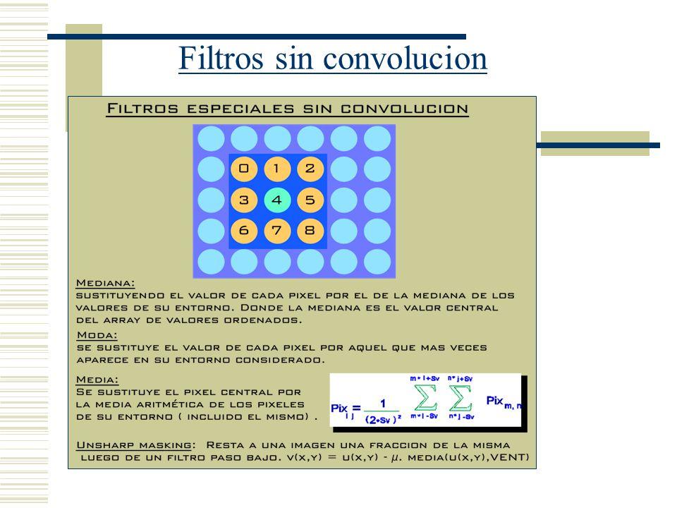 Filtros sin convolucion
