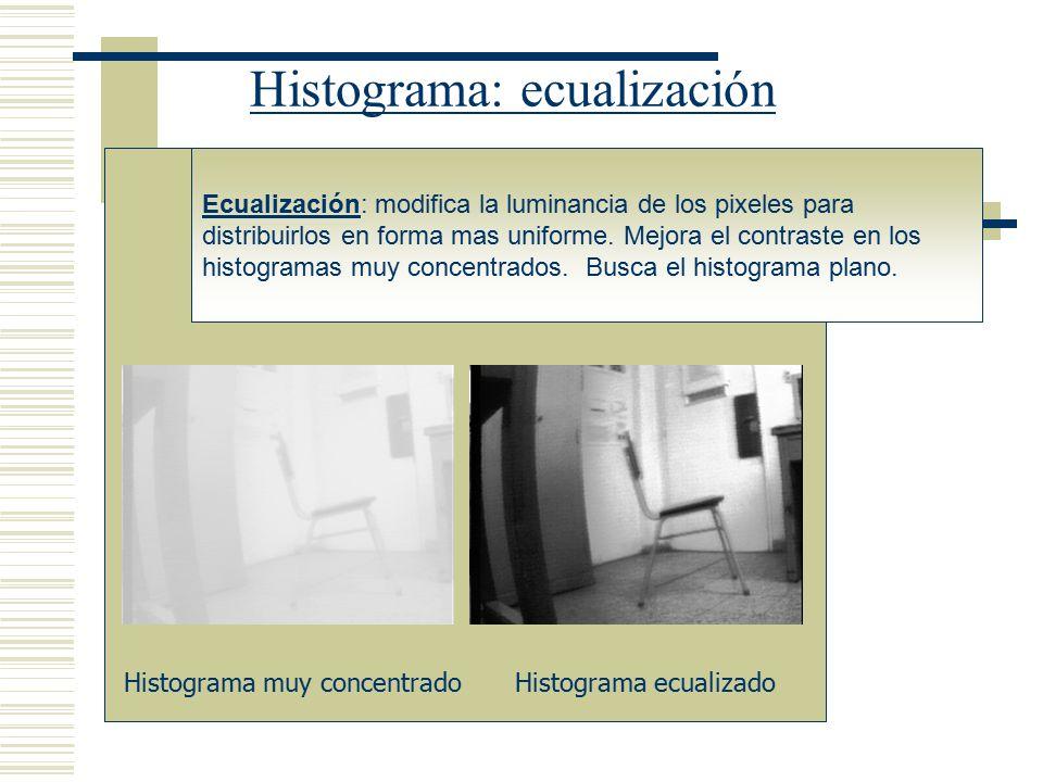 Histograma: ecualización
