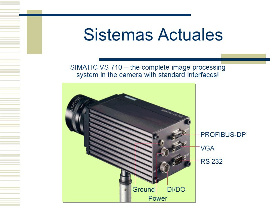 Sistemas Actuales SIMATIC VS 710 – the complete image processing system in the camera with standard interfaces!