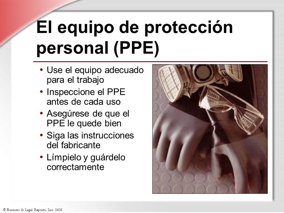 El equipo de protección personal (PPE)