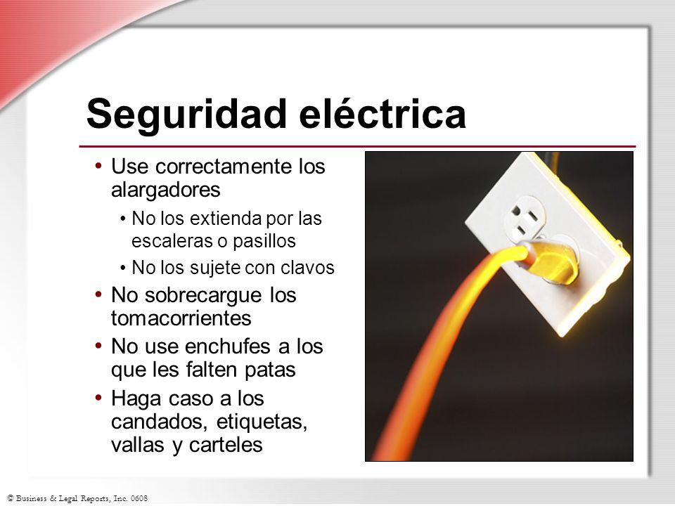Seguridad eléctrica Use correctamente los alargadores