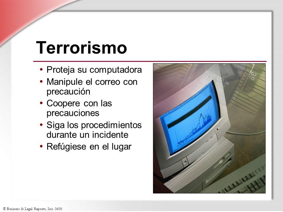 Terrorismo Proteja su computadora Manipule el correo con precaución