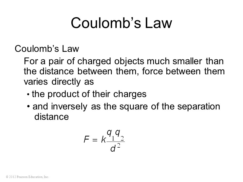 Coulomb's Law Coulomb's Law