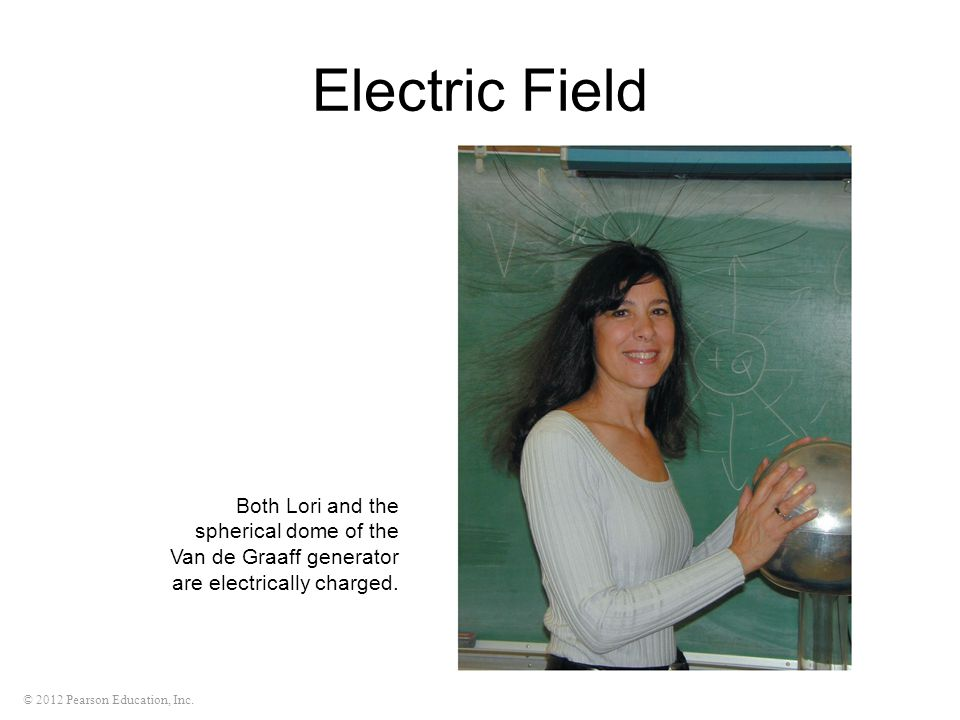 Electric Field Both Lori and the spherical dome of the Van de Graaff generator are electrically charged.
