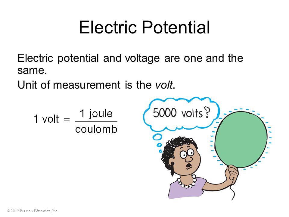 Electric Potential Electric potential and voltage are one and the same.
