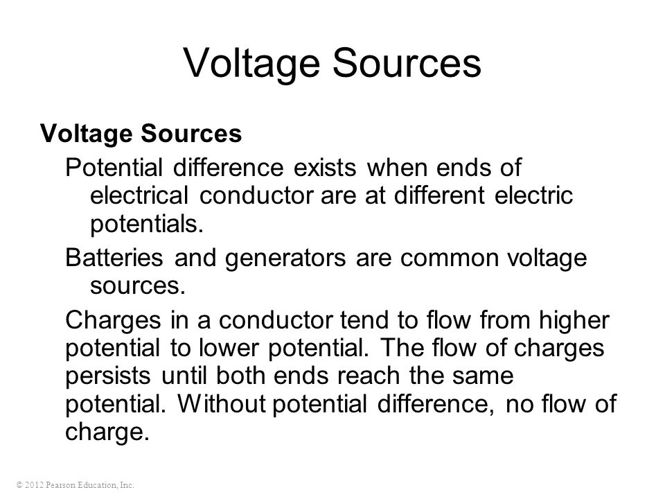 Voltage Sources Voltage Sources