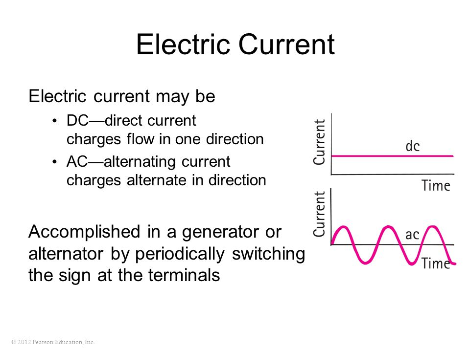 Electric Current Electric current may be