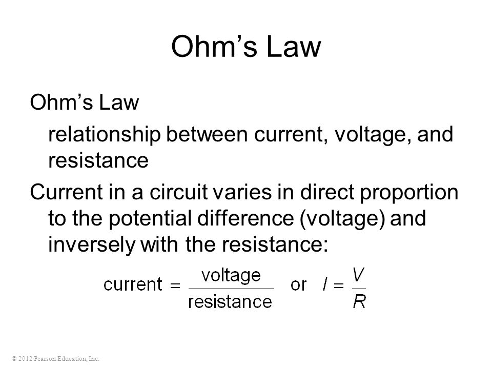 Ohm's Law Ohm's Law. relationship between current, voltage, and resistance.