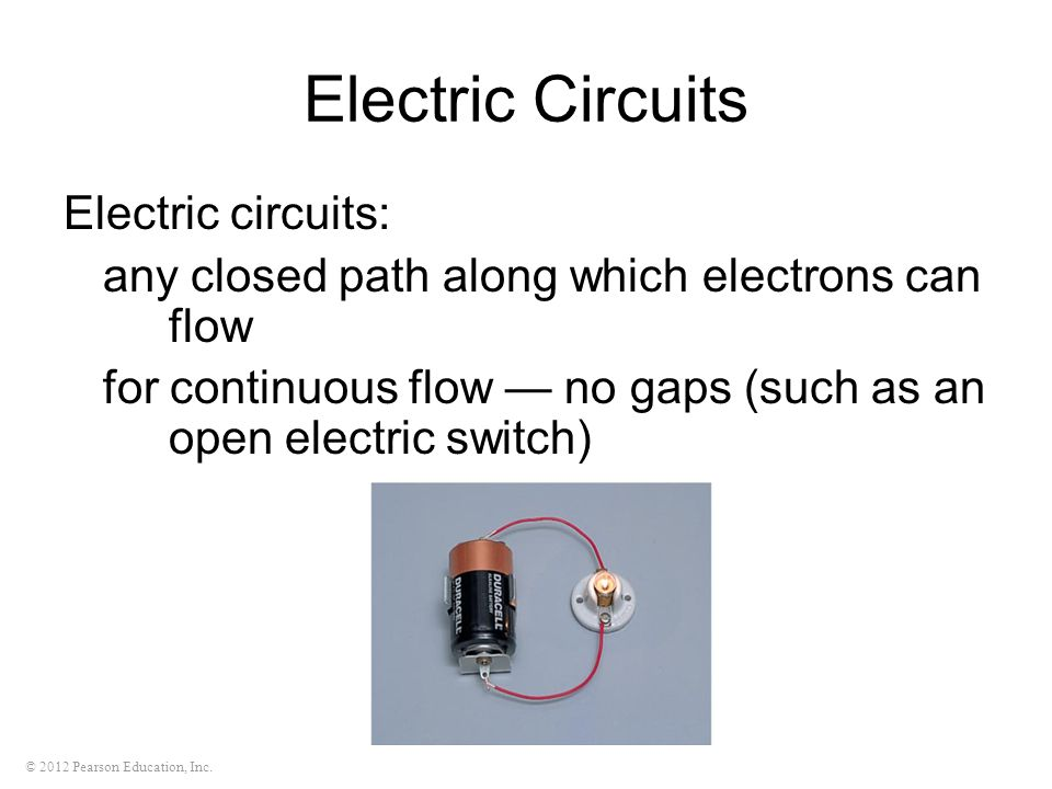Electric Circuits Electric circuits: