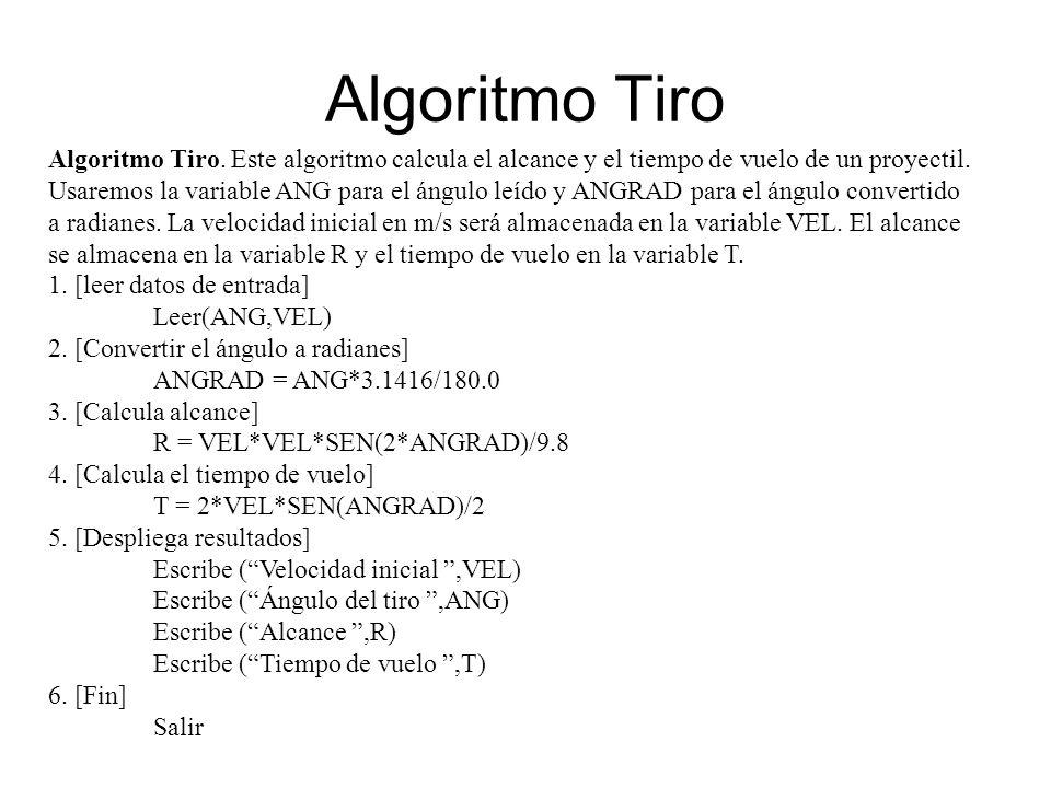 Algoritmo Tiro
