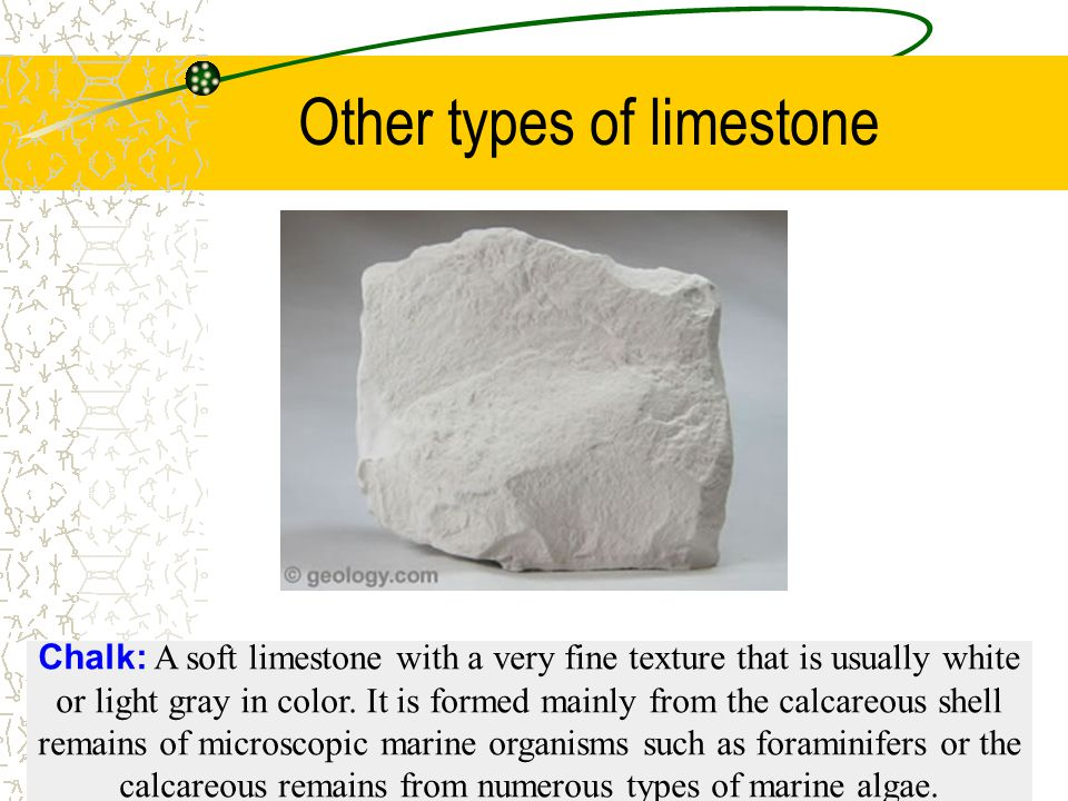 Other types of limestone