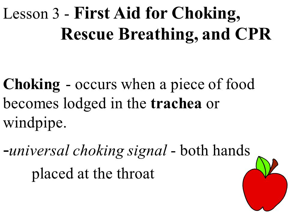 -universal choking signal - both hands placed at the throat
