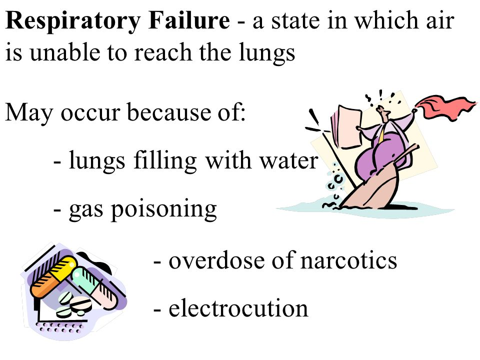 Respiratory Failure - a state in which air is unable to reach the lungs