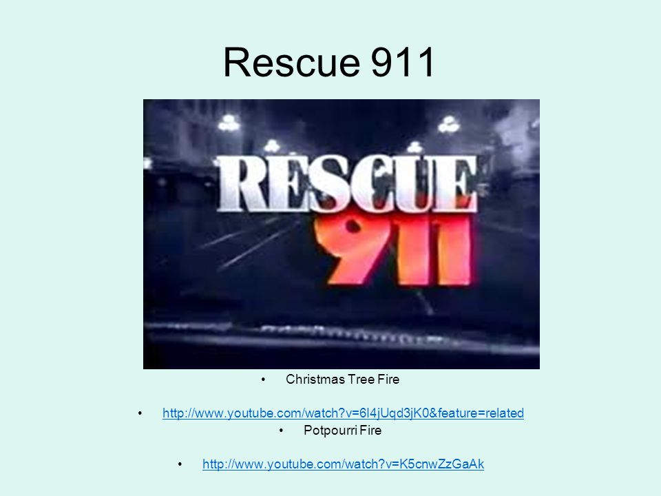 Rescue 911 Christmas Tree Fire